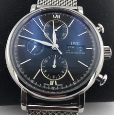 IWC Portofino Stainless Steel Automatic Black Watch for sale online Iwc, Stainless Steel, Watches, Ebay, Black, Wristwatches, Black People, Clocks