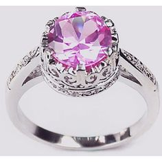@Overstock - Click here for Ring Sizing ChartPink/lavender cubic zirconia ring14-karat white gold overlayhttp://www.overstock.com/Jewelry-Watches/14k-White-Gold-Overlay-Lavender-Crown-Solitaire/3080953/product.html?CID=214117 $19.99