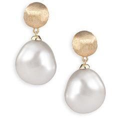Marco Bicego Pearl Drop Earrings  Marco Bicego Jewelry 18K Gold