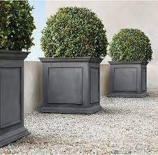 Estate Zinc Framed Panel Planter – Weathered Zinc RH's Estate Zinc Framed Panel Planter:Recalling pots from English and Belgian estate gardens, these stately planters are crafted in a family-owned workshop in Bulgaria. Outdoor Pots, Outdoor Gardens, Outdoor Living, Outdoor Decor, Lawn And Landscape, Landscape Design, Glass Garden, Garden Pots, Balcony Gardening