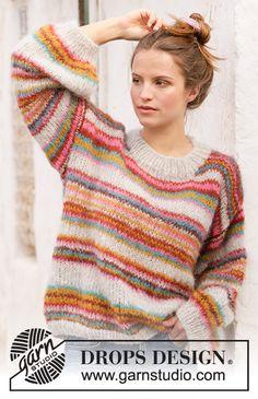 Easy Sweater Knitting Patterns, Easy Knitting, Knit Patterns, Design Patterns, Drops Design, Pull Crochet, Knit Crochet, Crochet Geek, Knit Cowl