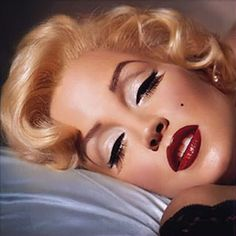 Marilyn. Great example of her makeup too.