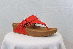 ed5f5fab8330 FitFlop Fit Flops Via Flame Orange Leather Dress Sandal MSRP  120 6 7 8 9 10