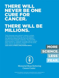 Memorial Sloan Kettering's New Ads Pitch a Message of Hope – Adweek Copy Ads, Health And Wellness, Health Care, Clinic Design, Message Of Hope, Advertising Campaign, Advertising Design, Science, Marketing