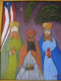 pinturas de puerto rico | Los Reyes Magos José D. Ojeda- Artelista.com