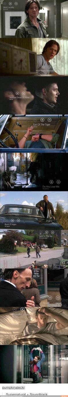 Supernatural soundtracks