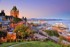 city canada cuebec canada province quebec sea gulf castle embankment the port town house night landscape sunset cruise liner . Geo Wallpaper, Sunset Wallpaper, Nature Wallpaper, Wallpaper Maker, Black Wallpaper, Iphone Wallpaper, Monuments, Montreal, Vancouver
