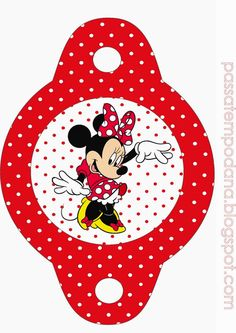 Minnie Red and White Polka Dots: Free Party Printables. | Oh My Fiesta! in english