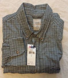 #CHAPS cotton flannel long sleeve button-down shirt plaid pattern size L NWT visit our ebay store at  http://stores.ebay.com/esquirestore