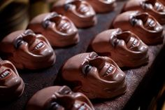 Carnival masks in the likeness of Italian Premier Silvio Berlusconi sit on a table at a mask making factory in Sao Goncalo, Rio de Janeiro state, Brazil, Friday Feb. 18, 2011.