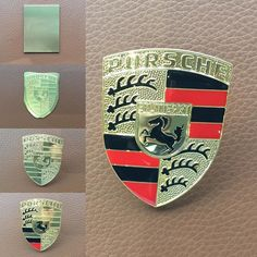 The Porsche Crest in five stages.  #DickLovett #Porsche #Bristol #Swindon #Cardiff #Tewkesbury #Crest #Badge #Sportscars #911 #Boxster #Cayman #Macan #Cayenne #Panamera #918 #Classic #Legendary #History by dicklovett February 13 2016 at 08:48PM