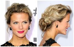 30 Ways to Wear a Messy Updo: Messy Prom Updos: Brooklyn Decker