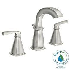 NEED 5 -GUEST, KIDS & BASEMENT BATHS -MOEN Hensley 8 in. Widespread 2-Handle Bathroom Faucet in Spot Resist Brushed Nickel