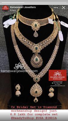 Indian Bridal Jewelry Sets, Wedding Jewelry Sets, Gold Mangalsutra Designs, Gold Jewellery Design, Diamond Necklace Set, Diamond Jewelry, Gold Jewelry Simple, Imitation Jewelry, Olympics