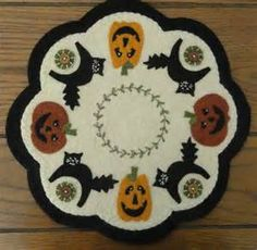 Fall penny rug | Penny Rug Projects | Pinterest