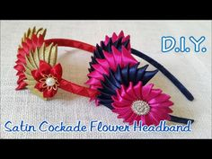 ❀❀❀ D.I.Y. Satin Cockade Flower Headband - Tutorial ❀❀❀