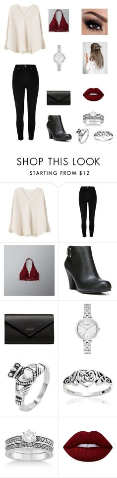 """""""Date night!"""" by sarapotter98 on Polyvore featuring MANGO, River Island, Abercrombie & Fitch, Fergalicious, Balenciaga, Kate Spade, West Coast Jewelry, Bling Jewelry, Allurez and Lime Crime"""