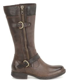 Another great find on #zulily! Boardwalk Brown Kendell Leather Boot #zulilyfinds