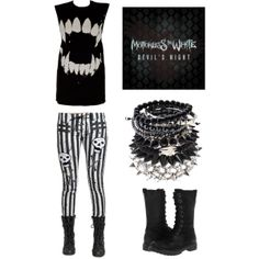 """Skulls and Crossbones"" by metal-head on Polyvore"