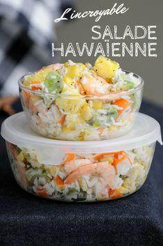 Salade hawaïenne - salade fraîche - salade d'été - recette facile - recette rapide