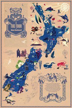 Maori Memes New Zealand + Memes New Zealand - Modern Map Of New Zealand, Air New Zealand, New Zealand Travel, New Zealand Adventure, Rugby, Nz Art, Kiwiana, City Maps, Vintage Travel Posters