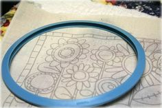 embroidery pattern made with freezer paper