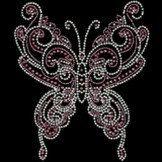 Butterfly Bling Shiny RhineStuds Tshirt Motif by BlingnPrintStreet