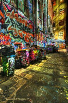 Hosier Lane, Melbourne, Australia, CRAZY!