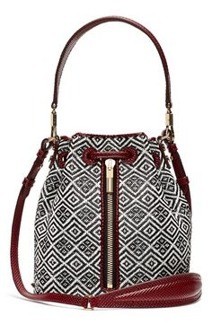 Elizabeth and James 'Cynnie Mini' Basket Woven Bucket Bag available at #Nordstrom