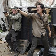 Glenn and Nicholas ➖Why did he have to try and save the day? Just this once I wish Glenn had been selfish. Please let him be alive.