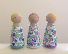 Bridesmaid peg dolls