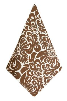 Hen House Linens - gracious chocolate brown printed cloth dinner napkins, $33.00 (http://www.henhouselinens.com/gracious-chocolate-brown-printed-cloth-dinner-napkins/)