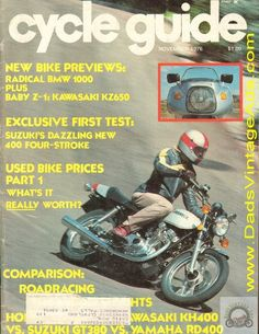 Contents: Road Tests: Suzuki GS400B, Montesa Cota 348; Riding Impressions: Kawasaki KZ650 Four, BMW R100RS; Competition: The Wagner Cup Trials - Marland Whaley and Honda's second was a first; The Superbowl - Ellis did it again; Laguna Seca - Steve Baker; Features: Honda CB400F vs. Kawasaki KH40
