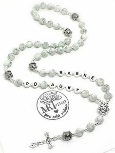 """Mramorový"" ruženec (text na želanie) (bez shamballa) / MK-ozdoby - SAShE.sk Bracelets, Silver, Jewelry, Charm Bracelets, Jewellery Making, Jewlery, Money, Arm Bracelets, Silver Hair"