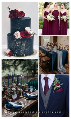 5 Stunning Jewel-toned Wedding Color Ideas for 2020 Dark Teal Weddings, Navy And Burgundy Wedding, Maroon Wedding, Wedding Color Pallet, Wedding Color Schemes, Dream Wedding, Wedding Day, Summer Wedding, Wedding Events