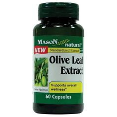 Mason Naturals Olive Leaf Extract Supports Overall Wellness - 60 Cap