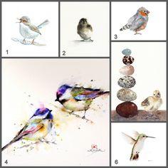 Watercolor Birds | This Handmade Life
