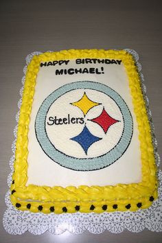 Pittsburg Steelers Cake by Jens Creations, via Flickr