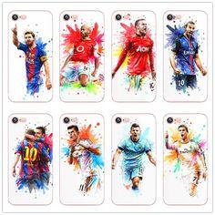 Lionel Messi Football Star  for iphone 6 6s Plus 7 7Plus 5 5s 5C SE White hard plastic Protector Cover fundas