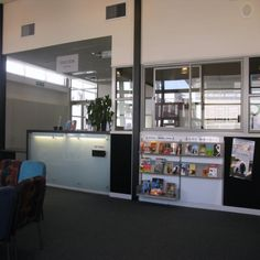 New Book Display.  Alongside the Issue desk is a face out display of new books | Services to Schools
