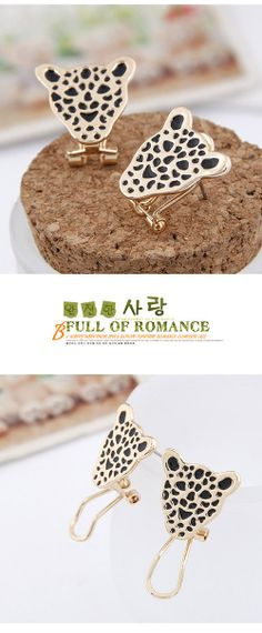 leopard fashion and personality temperament ear clip