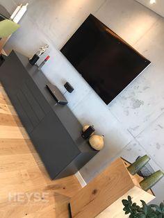 Ideal Flatscreen Fernsehwand Betonoptik