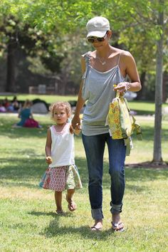 Halle Berry and Nahlas park playdate