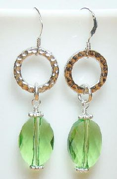 New project on the Idea Page today! Perfectly pretty Peridot (August birthstone) dangle earrings. See the Idea Page for details and materials list.