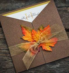 Autumn Wedding Invites. Love the colours :-) Ali x