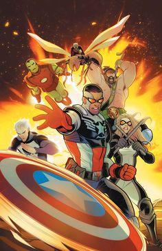 CAPTAIN AMERICA SAM WILSON #24 SENo más prevaricating! No más duda! Sam Wilson está de vuelta en el arnés como Capitán América - para liderar la lucha contra su enemigo final!