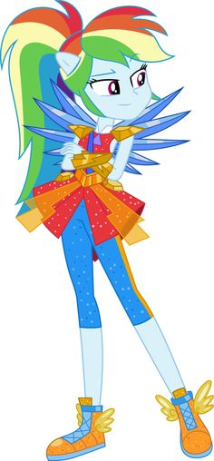 Rainbow Dash Legend of Everfree Vector by icantunloveyou.deviantart.com on @DeviantArt
