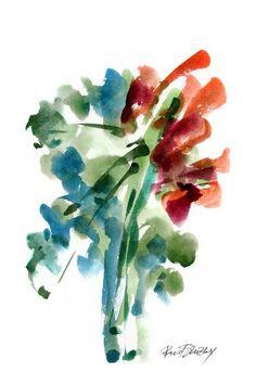 "Saatchi Art Artist Pavel Sluzky; Printmaking, ""Aqua-Flora#1 - Limited Edition 4 of 12"" #art"