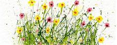 Tutorial - Splattered Paint flower Cards-Spring Wild Flowers- Tammy Northrup - myflowerjournal.com