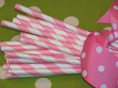 Vintage Paper Drinking Straws - Pink Stripe from Australia's party supplies shop. Party Straws & Drink Decorations for birthday parties, kids parties & weddings. Diy Wedding Supplies, Wedding Supplies Wholesale, Diy Party Supplies, Wedding Ideas, Party Wedding, Tea Party, Pink Stripes, Polka Dots, Carnival Baby Showers